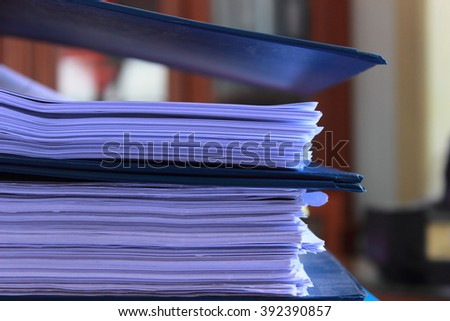 Archive files - stock photo