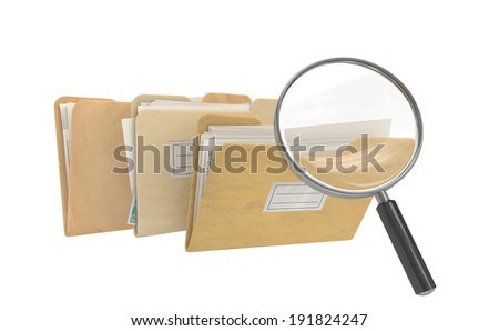 Archive Search - stock photo