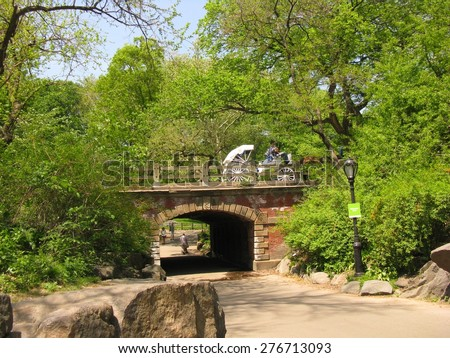 Archway in Central Park, New York City - stock photo