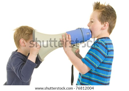 Are you listening. I am telling you - stock photo