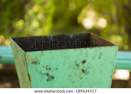 Area for urban waste - stock photo