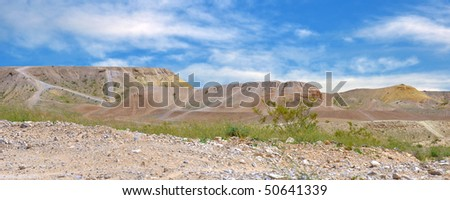 Area for 4X4 activities. - stock photo