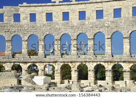 Arena in Pula, Croatia - stock photo
