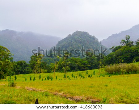 Arenal volcano national park, Costa Rica - stock photo