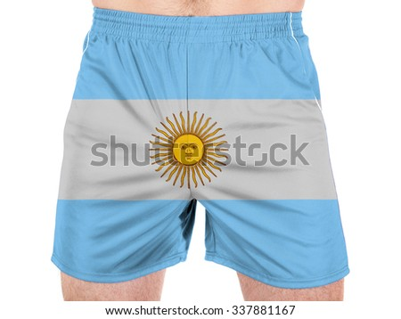 Argentine. Argentinean flag  - stock photo
