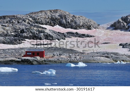 Argentine Refuge in Antarctica - stock photo