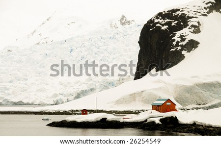 Argentine research station - stock photo