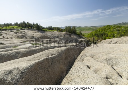 Arid landscape and drought - stock photo