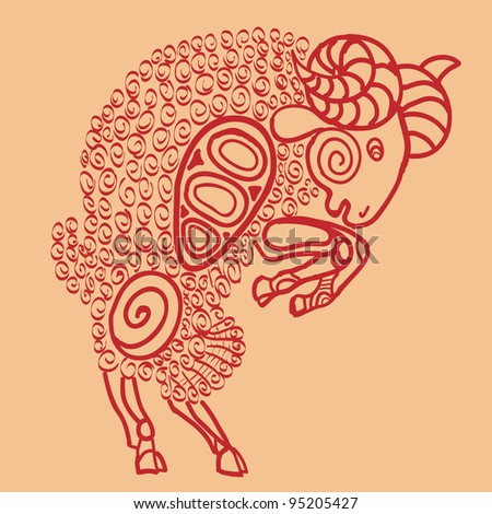aries, sign of the zodiac - stock photo