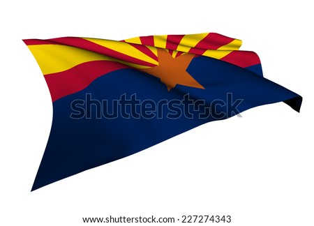 Arizona flag - USA state flags collection no_4  - stock photo