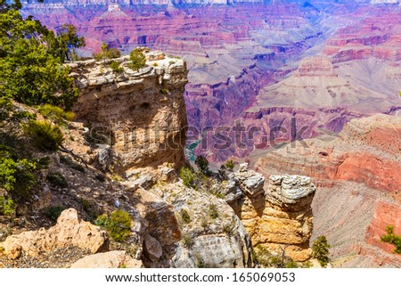 Arizona Grand Canyon National Park Mother Point and Amphitheater USA - stock photo