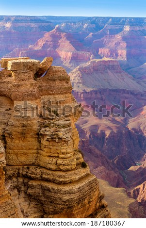 Arizona Grand Canyon National Park Mother Point in USA - stock photo
