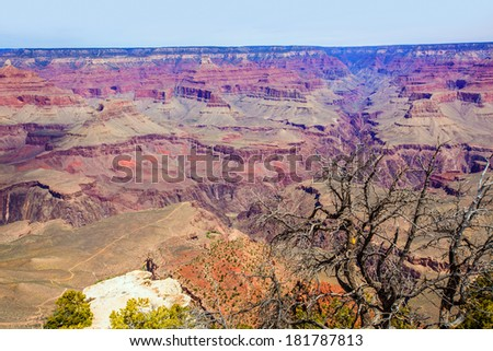 Arizona Grand Canyon National Park Yavapai Point USA - stock photo