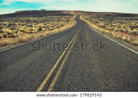 arizona Road - stock photo