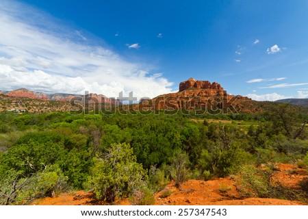 Arizona Sedona  vortex - stock photo