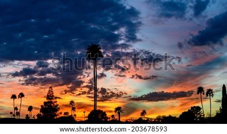 Arizona sunset - stock photo