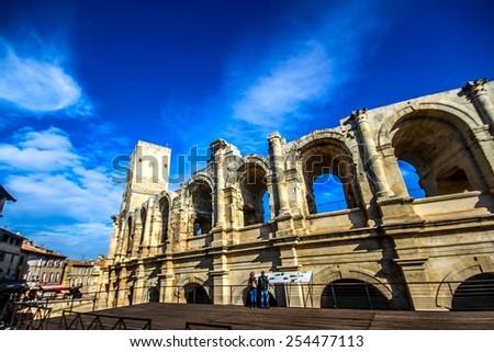 Arles Amphitheatre - stock photo