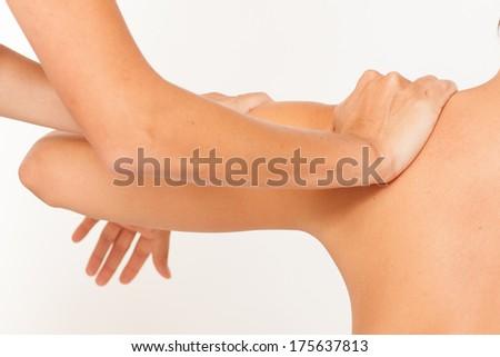 arm massage - stock photo