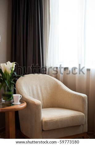 Armchair in the room for rest - stock photo