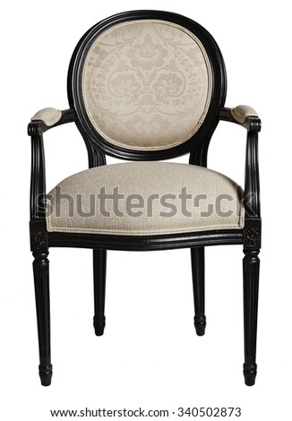 Armchair isolated on white background - stock photo