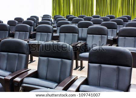 Armchairs in room can use for conference room - stock photo