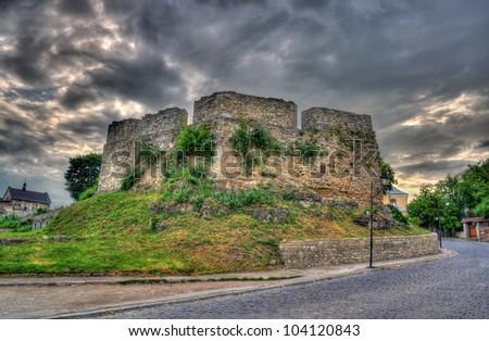 Armenian bastion in Kamianets-Podilskyi, Ukraine. Built XVI century - stock photo