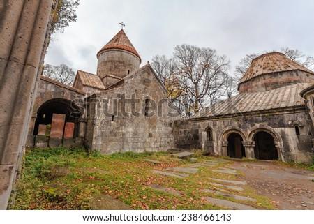 Armenian Monastery of Sanahin located in Sanahin village at Lori Province, Armenia - stock photo