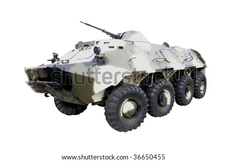 Armored russian car - stock photo