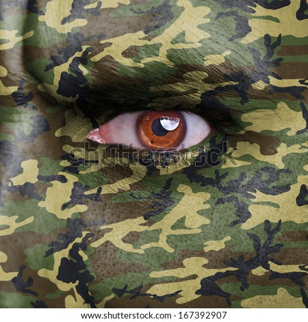 Images Of People Painted And Camoflauged
