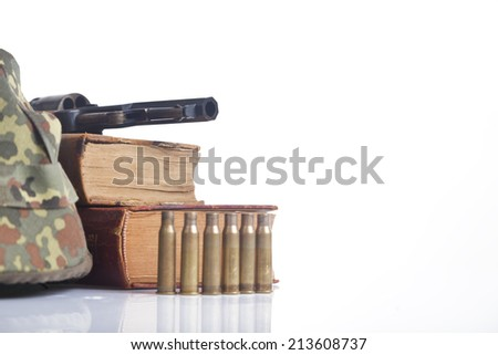 army equipment iisolated on white - stock photo
