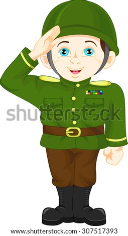 army soldier boy posing - stock photo