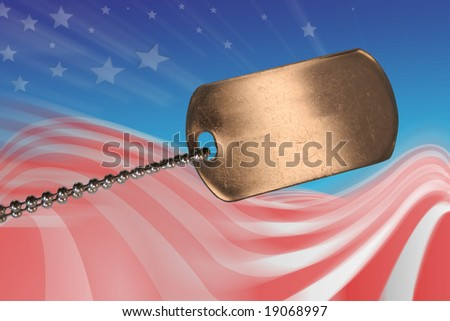 Army soldier tag - stock photo