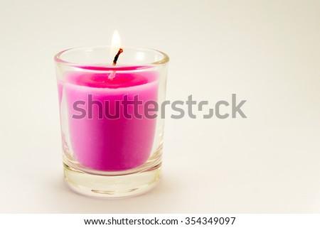 Aroma candle - stock photo