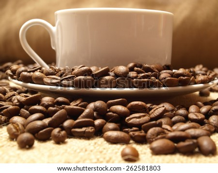 Aroma coffee - stock photo