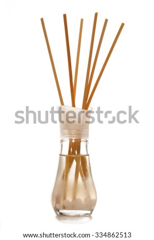 Aroma diffuser on white background - stock photo