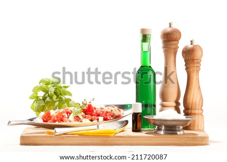 Aroma Kitchen, essential oils in the kitchen - stock photo