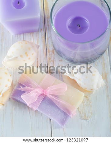 Aroma soap - stock photo