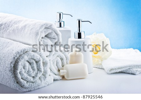 aromatherapy and spa still life - stock photo