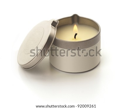 Aromatherapy Candle - stock photo
