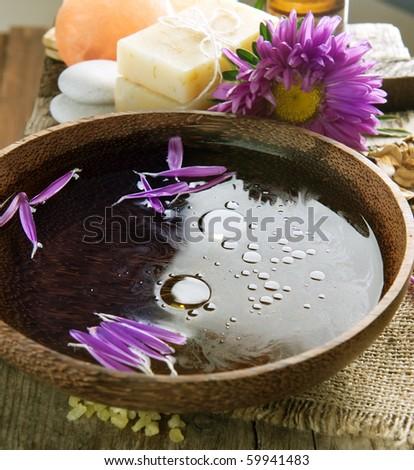 Aromatherapy.Essence oil.Spa treatment - stock photo