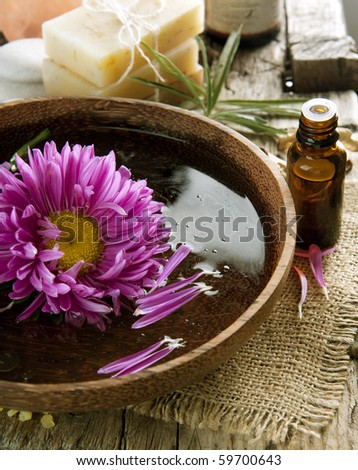 Aromatherapy.Essential oil.Spa treatment - stock photo
