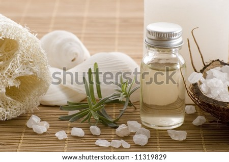 aromatherapy items - stock photo