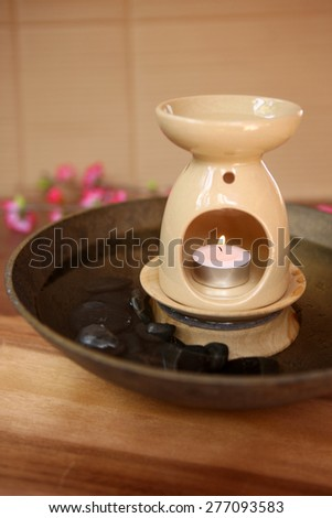 Aromatherapy oil burner - stock photo