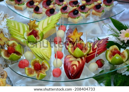 Aromatic sliced fruits - stock photo