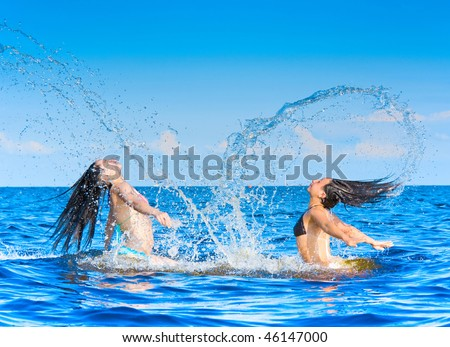 Aroused monsters from the sea! - stock photo