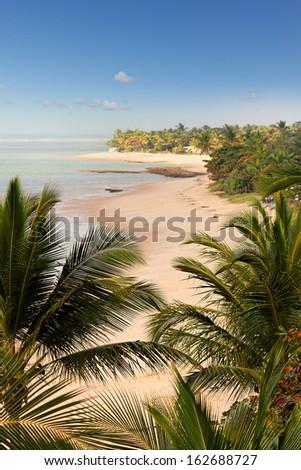 Arraial d'Ajuda beach in Bahia - Brazil.  - stock photo