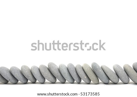arrangement of flat rocks - stock photo