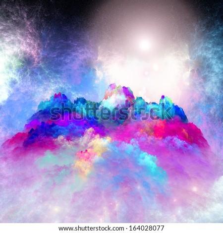 Arrangement of lights, fractal flames and abstract element Arrangement of lights, fractal flames and abstract element - stock photo