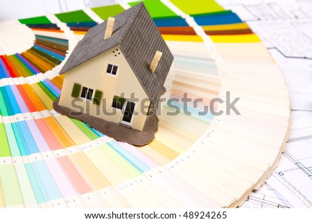 arranging home - stock photo