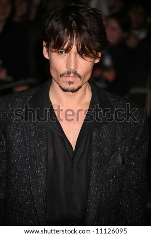 Arrivals at the European Premiere of 'Sweeney Todd' at the Odeon Leicester Square on January 10, 2008 in London, England. Johnny Depp - stock photo